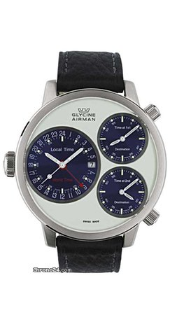Glycine AIRMAN 7 CROSSWISE CIRCLE SL - 100 % NEW