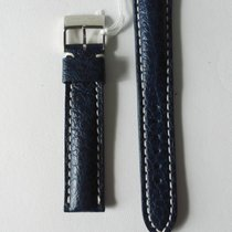 Breitling BLUE LEATHER CROC PRINT STRAP 18MM 100% ORIGINAL