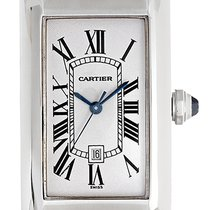 Cartier Tank Americaine 18k White Gold Men's or Ladies...
