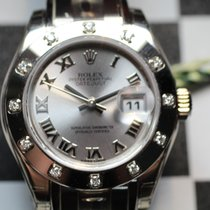 Rolex 80319 Pearlmaster 29 Rhodium Roman Dial White Gold
