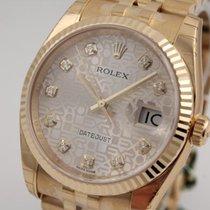 Rolex Datejust Gelbgold Herrengröße