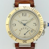 Cartier Pasha Power Reserve Automatic Gold-Steel 1033