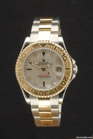 Rolex Yachtmaster Stahl/Gold mit Perlmuttblatt