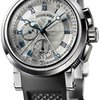 Breguet Marine Silver Dial Black Rubber 18kt White Gold...