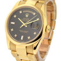 Rolex Used Yellow Gold 36mm President with Oyster Bracelet 18208