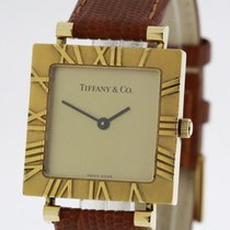 Tiffany & CO Atlas solid 18 Karat Yellow Gold Watch Ref....