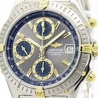Breitling Chronomat 18k Gold Steel Automatic Mens Watch B13352...