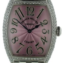 Franck Muller Curvex 18k White Gold Diamond Watch