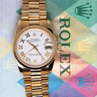 Rolex Datejust President 18k Yellow Gold White Dial Midsize...