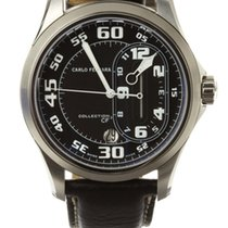 Carlo Ferrara Jockey Regulator Centre Minutes Steel Black Dial