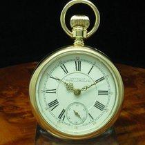Waltham 14kt 585 Gold Open Face Taschenuhr Von Ca. 1889