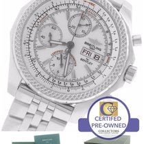 Breitling Bentley GT Day-Date Chronograph White Stainless A13362