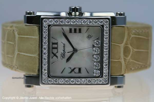 Chopard HAPPY SPORT XL EDELSTAHL UND DIAMANTLNETTE