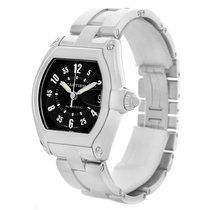 Cartier Roadster Large Mens Steel Black Dial Watch W62004v3...