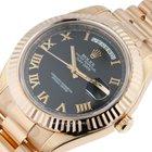 Rolex Day-Date II 18kt Rose Gold 218235 bkrp UNWORN