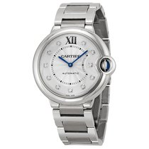 Cartier Unisex WE902075 Ballon Bleu Silver Diamond Watch