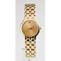 Movado 18k Yellow Gold Orizi Quartz Museum