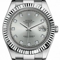 Rolex Datejust II 41mm Steel and White Gold 116334 Silver...