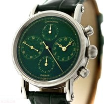 Chronoswiss Kairos Ref-CH 7523 Stainless Steel Green Dial Box...