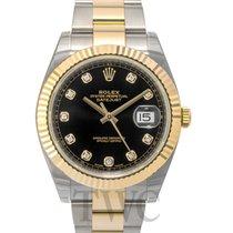Rolex Datejust 41 Black/18k gold Oyster Dia 41mm - 126333