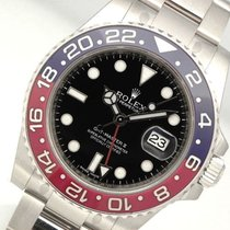 Rolex Gmt-master Ii 116719 Pepsi Mens White Gold Blue / Red...