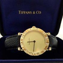Tiffany & Co. Atlas 18k Gold Ladies Watch W/ Diamonds,...