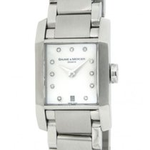 Baume & Mercier Hampton Uhr Quartz 65488 Steel Diamonds