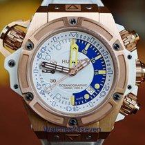 Hublot King Power Oceanographic 1000 Gold White Dial LTD