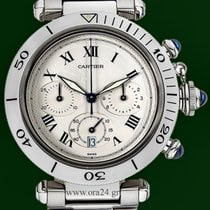 Cartier Pasha 38mm Chronograph Date Stainless Steel