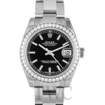 Rolex Datejust Lady Midsize Black/White Gold - 178384