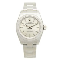Rolex Lady Oyster Perpetual Stainless Steel Silver Automatic...