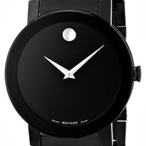 Movado Sapphire PVD Black Museum 0606307 Steel Complete NEW Watch