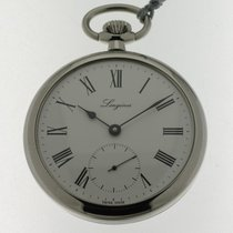 Longines orologio tasca acciaio carica manuale / pocket watch