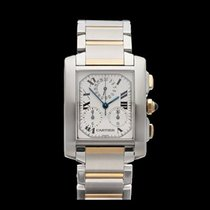 Cartier Tank Francaise Stainless Steel/18k Yellow Gold Gents...
