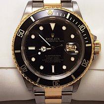 Rolex Mens Rolex Submariner Two Tone 18 Karat Yellow Gold...