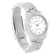 Rolex Oyster Perpetual Midsize Steel Silver Dial Watch 177210