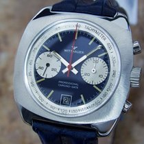 Wittnauer Professional Chrono Date Men's Manual 1970 Swiss...