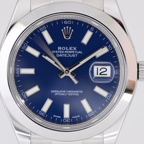 Rolex Datejust II Stahl Oyster LC100 blue Stick Dial 41mm 2016