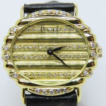 Piaget Vintage 18Carat Yellow Gold Oval Factory Diamonds Polo
