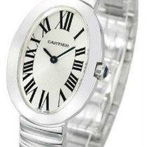 Cartier W8000006 Baignoire Oval Silver Dial Quartz Women 18kt...