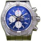 Breitling Super Avenger 2 A13371 Men's 48mm Blue Index...