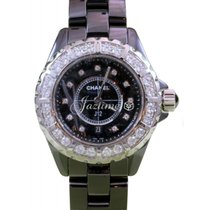 Chanel J12 H2427 Ladies Midsize 33mm Quartz Black Ceramic...