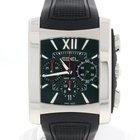 Ebel Brasilia Chronograph Black Dial Steel Mens Watch E9126M52
