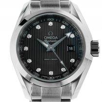 Omega Seamaster Aqua Terra 150m Stahl Diamond Quarz Armband...