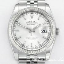 Rolex DATEJUST 116234 STAHL WEISSGOLD 750 AUTOMATIK 36mm Date...