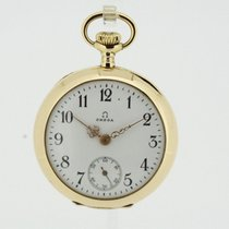 Omega Vintage solid 18K Yellow Gold Ladies Pocket Watch (2332)
