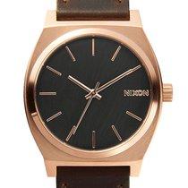 Nixon A045-2001 Time Teller Rose Gold Gunmetal Brown 37mm 10ATM