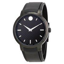 Movado Gravity Black Carbon Fiber Mens Watch 0606849