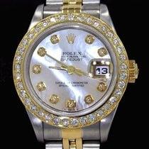 Rolex Datejust 69173 18k Yellow Gold/ss Mop Diamond Dial...
