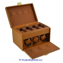 Watch Winders Specials Scatola Tan Leather Watch Winder 7RT